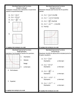 """""""Bite-Sized"""" Formative Assessments: Exponential Functions & Geometric Sequences"""