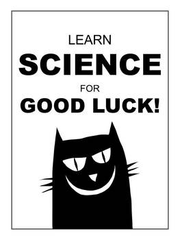 """Black Cat"" Science Poster Printable"