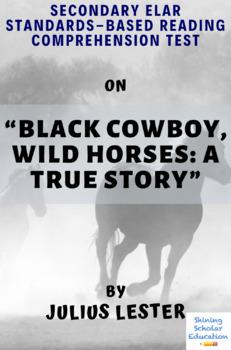 """Black Cowboy, Wild Horses: A True Story"" by Julius Lester MC Reading Test"