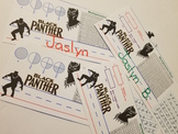 ** Black Panther ** Desk Name Tags Intermediate Grades