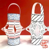 (Black/ White) American Flag Lantern Craft for Memorial Day, Flag Day, 4th July