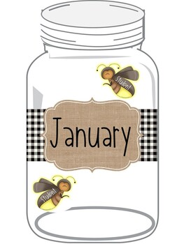 {Black & White Buffalo Plaid} Mason Jar Birthday Display (editable)