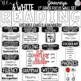 {Black and White} Journeys 1st Grade Focus Wall Set