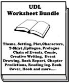 """""""Blended"""" By Sharon M. Draper UDL Worksheet Bundle (22 ass"""