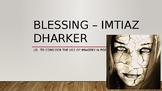 'Blessing' By Imtiaz Dharker Analysis