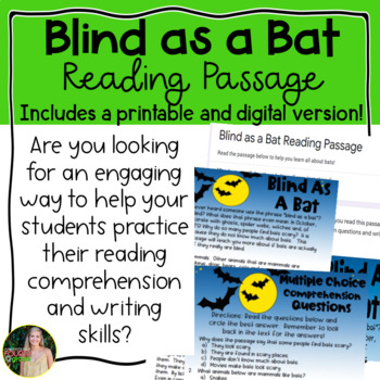 """Blind As a Bat"" Reading Passage"