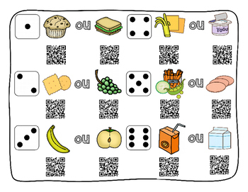 """""""Block It"""" game - Lunch - French version"""