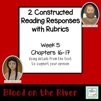 """""""Blood on the River"""" EXIT TICKET/cause & effect (with rubric) Chapter 16"""