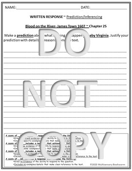 """""""Blood on the River"""" EXIT TICKET/cause & effect (with rubric) Chapter 24"""