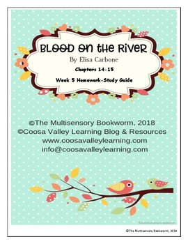 """""""Blood on the River"""" by Elisa Carbone (Study Guide/Homework) Chapters 14-15"""