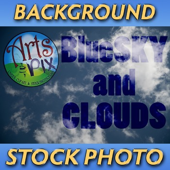 "! ""Blue Sky and Clouds"" - Photograph - Sky Background - Stock Photo"