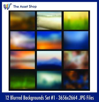 'Blurred Backgrounds' Set #1 (Digital Clip Art)