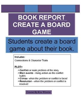 Book Report Board Game 4th, 5th & 6th grade *