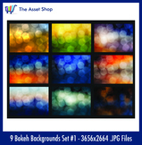 'Bokeh Backgrounds' Set #1 (Digital Clip Art)