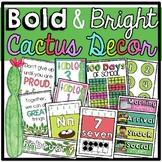 Cactus Classroom Decor Set ♥ Bold and Bright
