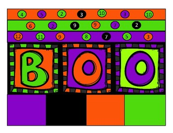 """Boo"" Halloween Candy Math Addition Game"