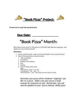 """Book Pizza"" Book Project"
