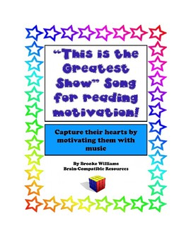 """New! """"Books Can Help Your Brain Grow"""" Song Lyrics to """"This is the Greatest Show"""""""