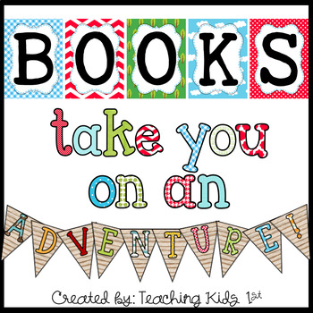 """Books Take You On An ADVENTURE"" Bulletin Board Set"
