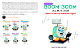 """Boom Boom the Bass Drum"" Learn 24 Music Notation Signs"