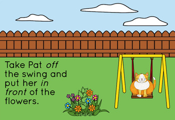 Spatial Concept Pat The Cat: {Boom Cards} WITH SOUND