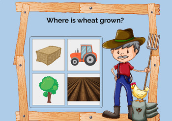 Agriculture - Wheat From the Ground Up! WITH AUDIO {Boom Cards}