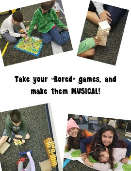 """Bored"" Games? Make them Musical! (Set of 5 Game Ideas with Pictures)"