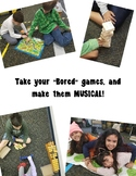 """""""Bored"""" Games? Make them Musical! (Set of 5 Game Ideas wit"""