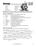 """""""Boring"""" Thematic Vocabulary Lesson"""