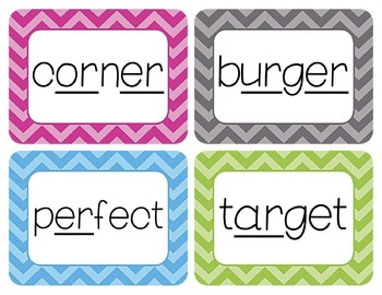 """""""Bossy R"""" (R-Controlled Vowel) Word Wall Cards"""
