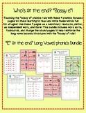 """Bossy e"" Long Vowel Learning Phonics Pack"