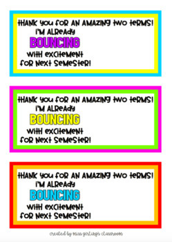 'Bouncing' Gift Tags