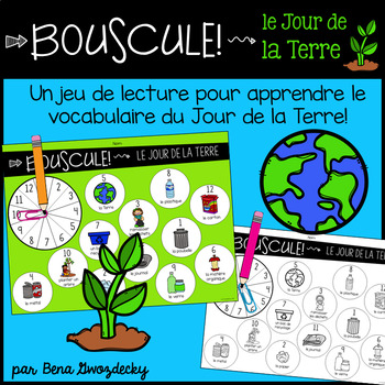 {Bouscule! Le Jour de la Terre} A game to practice reading in French