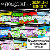 {Bouscule: The Growing Bundle!} Games to learn French thematic vocabulary