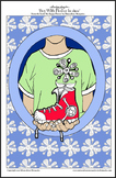 'Boy With Flower in Shoe' - Printable A4 Colouring Page
