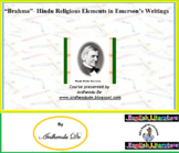 """Brahma""- Hindu Religious Elements in Emerson's Writings"