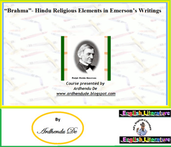 """""""Brahma""""- Hindu Religious Elements in Emerson's Writings"""