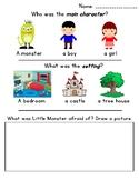 """Brave Little Monster"" - main character, setting, conflict"