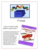 """""""Break Out!"""" Syllables 1st Grade Common Core Game Packet"""