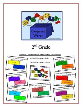 """""""BreakOut!"""" Compound Words 2nd Grade Common Core Game Packet"""