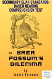 """""""Brer Possum's Dilemma"""" Short Story by Jackie Torrence Reading Test"""
