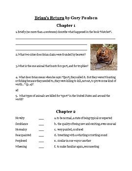 """""""Brian's Return"""" Book Study Guide"""