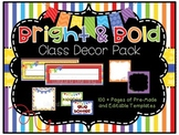 """Bright & Bold"" Classroom Decor Pack (Primary/Rainbow) - *"