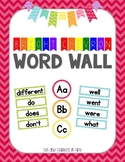 {Bright Chevron} K-2 Word Wall