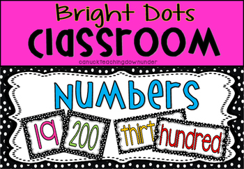'Bright Dots' Classroom Numbers