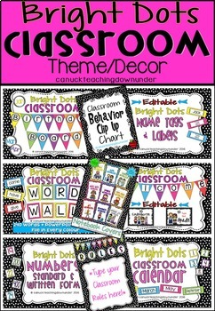'Bright Dots' Classroom Theme Decor Bundle