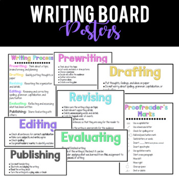 {Bright} Writing Board Posters