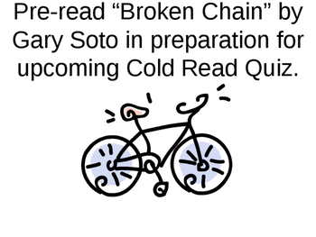"""Broken Chain"" by Gary Soto"
