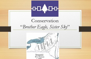 """""""Brother Eagle, Sister Sky"""" Bundle; zip; printable with powerpoint"""