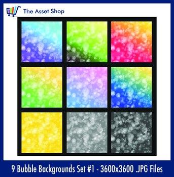 'Bubble Backgrounds' Set #1 (Digital Clip Art)